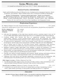 Medical Practice Administrator Sample Resume Charming Resume Practice Administrator In Medical Practice Manager 1