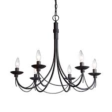 artcraft lighting wrought iron 6 light chandelier