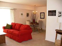 living room inside allyson gardens apartment homes in owings mills md