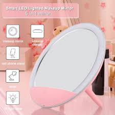5 In 1 Makeup Mirror Led Lighted Wireless Charger Make Up Mirror Smart Cosmetic With Cell Phone Stand Bedroom Mirrors Lighted Mirror From Caohu