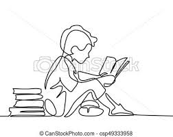 boy studing with reading book csp49333958