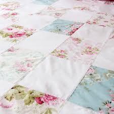 rose fl patchwork shabby chic duvet cover