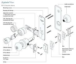 kwikset door lock parts. Kwikset Door Knob Parts H Series Exploded View Knobs . Lock