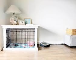 How to make a dog crate Wood Diy Dog Crate Iseeidoimake Diy Dog Crate Popsugar Home
