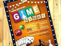 Game Night Invitation Template Game Night Invitation Template Eduardomatos