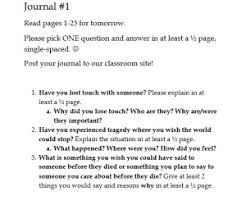 tuesdays morrie miss donnelly s daily apple journal 1 connecting student lives to tuesdays morrie students connect a text when they are able to relate the content to their personal lives