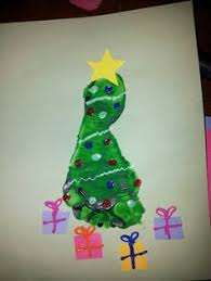 FINGER PAINTING This Is An Example Of Emotional Development Christmas Tree Feet Craft