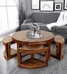 vega coffee table with stools in