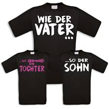 Familienshirts In Schwarz Für Vater Und Sohn Oder Tochter Wie Der