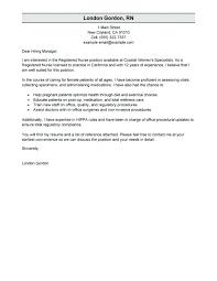 cover letter for rn job rn sample cover letter nursing school cover letters sample cover