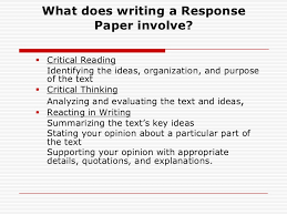 how to write a reaction response paper response paper<br > 2 what does writing