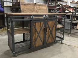 image is loading industrial farmhouse barn door slider entertainment center kitchen