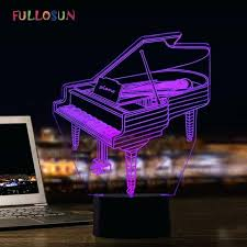 led piano light piano model night light colorful novelty lights decorative lamp art atmosphere led table