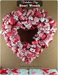 valentine s day heart wreath tutorial step by step guide