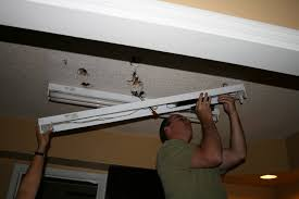 how to install fluorescent light fixture in garage best home ideas