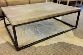 ... Ideas To Decorating Living Coffee Table, Marvellous Dark Brown  Rectangle Ancient Metal Coffee Table Base Design To Complete Living ...