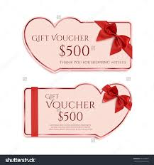 two gift card template red ribbon stock vector  two gift card template red ribbon and a bow valentines day banner concept