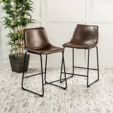 christopher knight home cedric 24 inch faux leather counter stool by set of 2 com