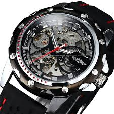 amazon com luxury sport watches for men skeleton wrist watches amazon com luxury sport watches for men skeleton wrist watches automatic winding mechanical movement black dial watches