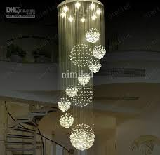nimi115 dia 80cm100cm120cm led crystal light spiral staircase pertaining to incredible home hanging chandeliers in living