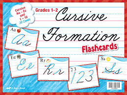 Cursive Formation Flashcards Abeka Amazon Com Books