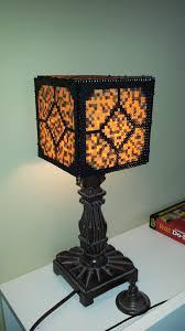 Minecraft Redstone Lamp Perler Beads Minecraft Beads Minecraft