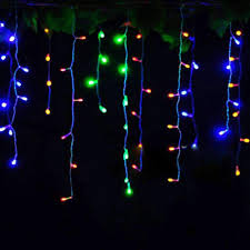 Rgb Outdoor Christmas Lights Kwb Led Christmas Lights Outdoor Decoration Lights 3 5m Droop Led Curtain Icicle String Lights White Warm White Rgb Blue New Year Wedding Party