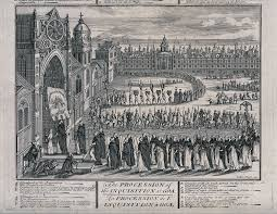 goa inquisition the auto da fatildecopy procession of the inquisition at goa an annual event to publicly humiliate and punish the heretics it shows the chief inquisitor