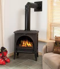 creative gas freestanding fireplace