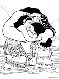 Coloring Pages Baby Moana Easy Free Printable Coloring Pages