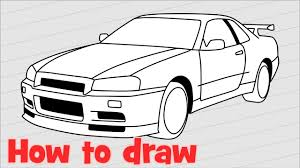 nissan skyline fast and furious drawing. Drawing Car Nissan Skyline GTR Intended Fast And Furious