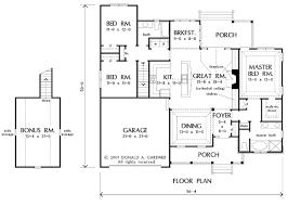 4 bedroom house plans with bonus room above garage room above