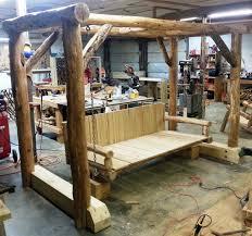 image creative rustic furniture. Exellent Rustic Rustic Poplar Log Chair Locust Daybed Swing  On Image Creative Furniture