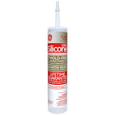 GE Silicone II 10.1 oz. Clear Kitchen and Bath Caulk-GE5040 12C ...