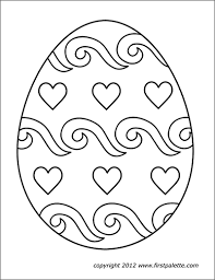 Coloring pages are fun for children of all ages and are a great educational tool that helps children develop fine motor skills, creativity and color recognition! Easter Eggs Free Printable Templates Coloring Pages Firstpalette Com