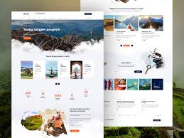 Tour Company Website Design Unhotel Web Design Project Travel Company By Seahawk On Dribbble