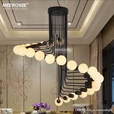 modern loft industrial chandelier lights bar stair dining room lighting retro meerosee chandeliers lamps fixtures res crystal chandelier suspension