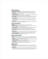 Business Swot Analysis Custom 48 Business SWOT Analysis Templates Free Sample Example Format