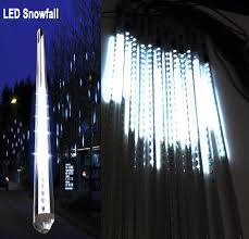 Commercial Snowfall Led Lights 20 Inches Linkable Snow White Led Snowfall Lights Double