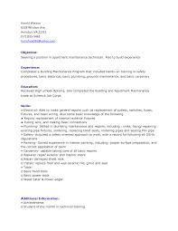 Maintenance Job Resume Factory Worker Samples Visualcv Skills
