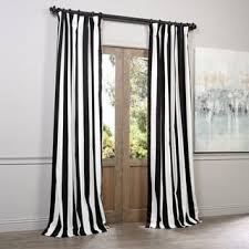 Exclusive Fabrics Cabana Black Stripe Cotton Curtain Panel - Free Shipping  Today - Overstock.com - 15326950