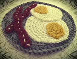 Free Crochet Potholder Patterns Custom Free Eggs Bacon Potholder Crochet Pattern Book People Studio