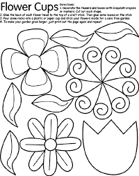 Small Picture Flower Cut Out Coloring Coloring Pages
