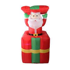 Light Up Pop Up Santa Lb International 5 Light Inflatable Pop Up Santa Gift Box Christmas Yard Decor