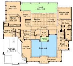tuscan style house plans with courtyard awesome idea 8 plan w16854wg elegant