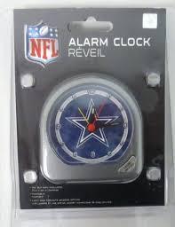 dallas cowboy wall clock cowboys alarm clock football new in plastic battery included