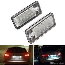 2pcs Lot Led Car License Plate Lamp For Audi A3 A4 A6 A8 Q7 Rs4 Carbriolet Rs6 Plus 5w Car Styling Automobile Led Number Plate Light