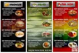 Menu Card Template Colorful Restaurant Menu Card Template Postermywall