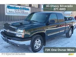 2003 Chevrolet Silverado 1500 Z71 Extended Cab 4x4 in Dark Green ...