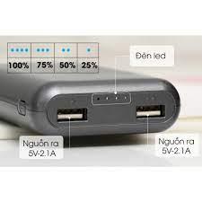 ️CHÍNH HÃNG Pin sạc dự phòng 7500mAh AVA LJ JP197 & LA 10K-1   Tặng kèm dây  sạc Micro USBLIKE NEW 99% giá cạnh tranh